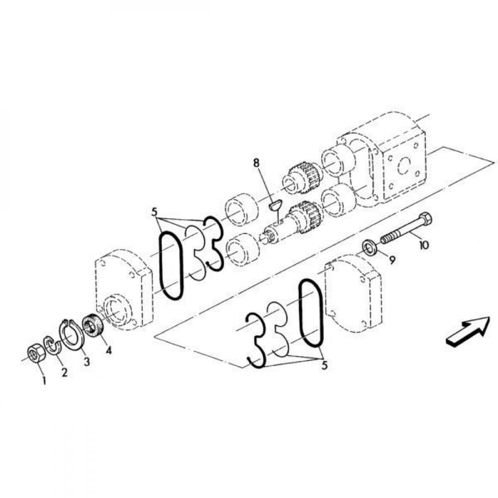 02 Hydraulische pomponderdelen passend voor KUHN RA-FC350G-RG