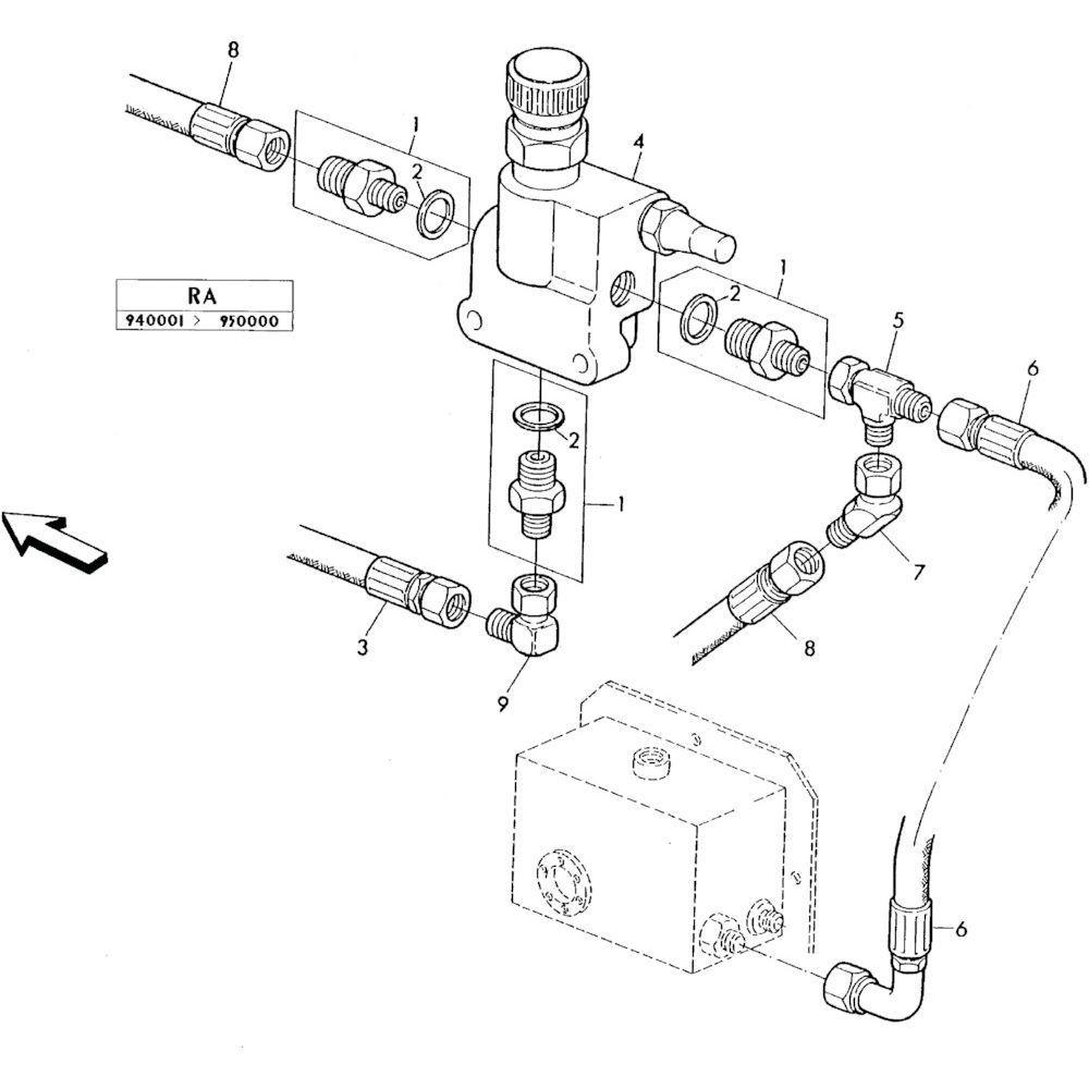 04 Hydraulisch systeem onderdelen 1 passend voor KUHN RA-FC352GRG
