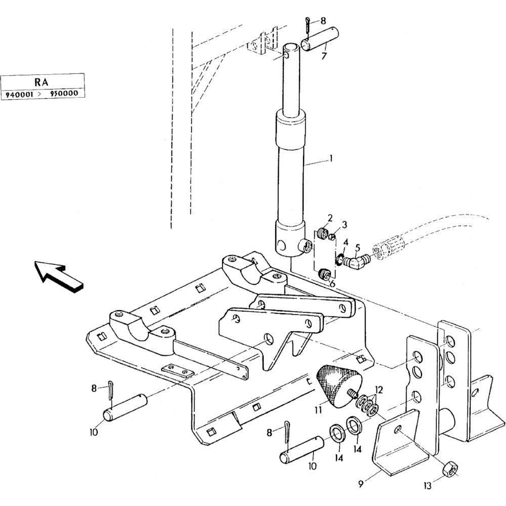 07 Hydraulische cilinder passend voor KUHN RA-FC352GRG