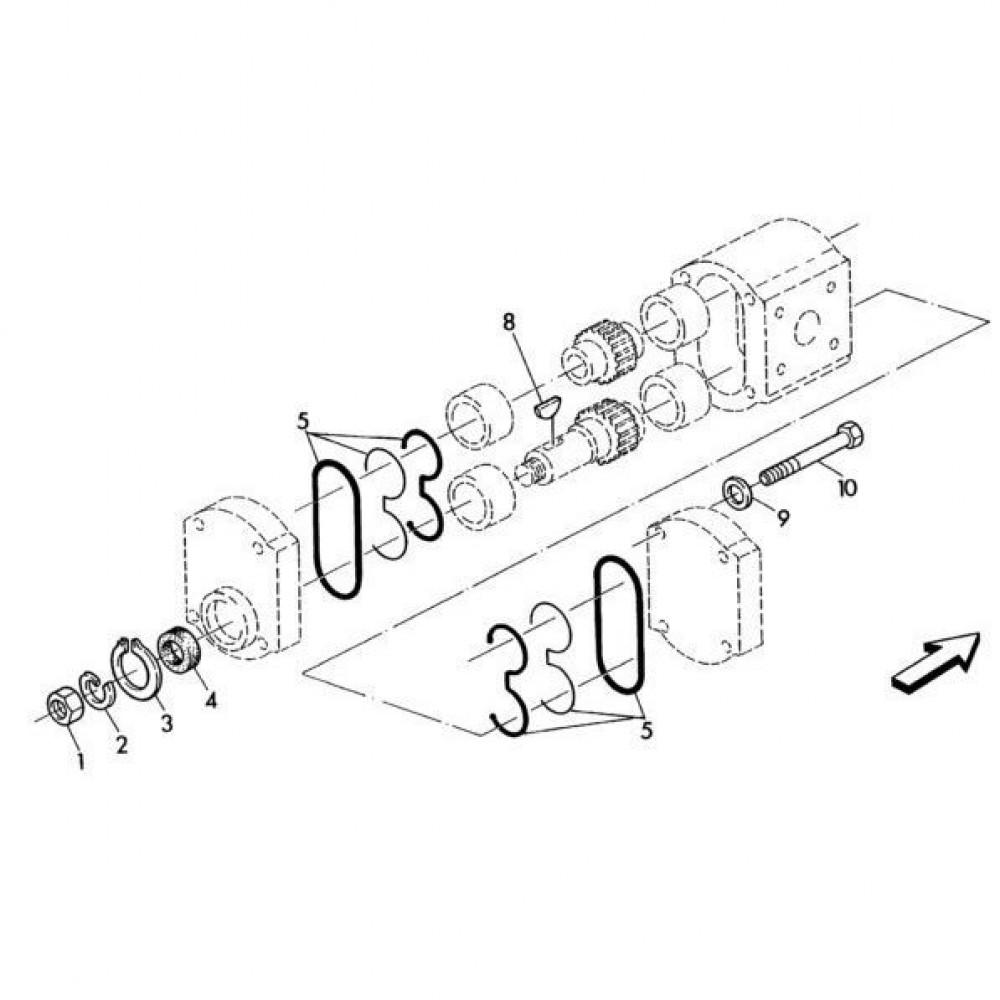 02 Hydraulische pomponderdelen passend voor KUHN RA-FC352GRG
