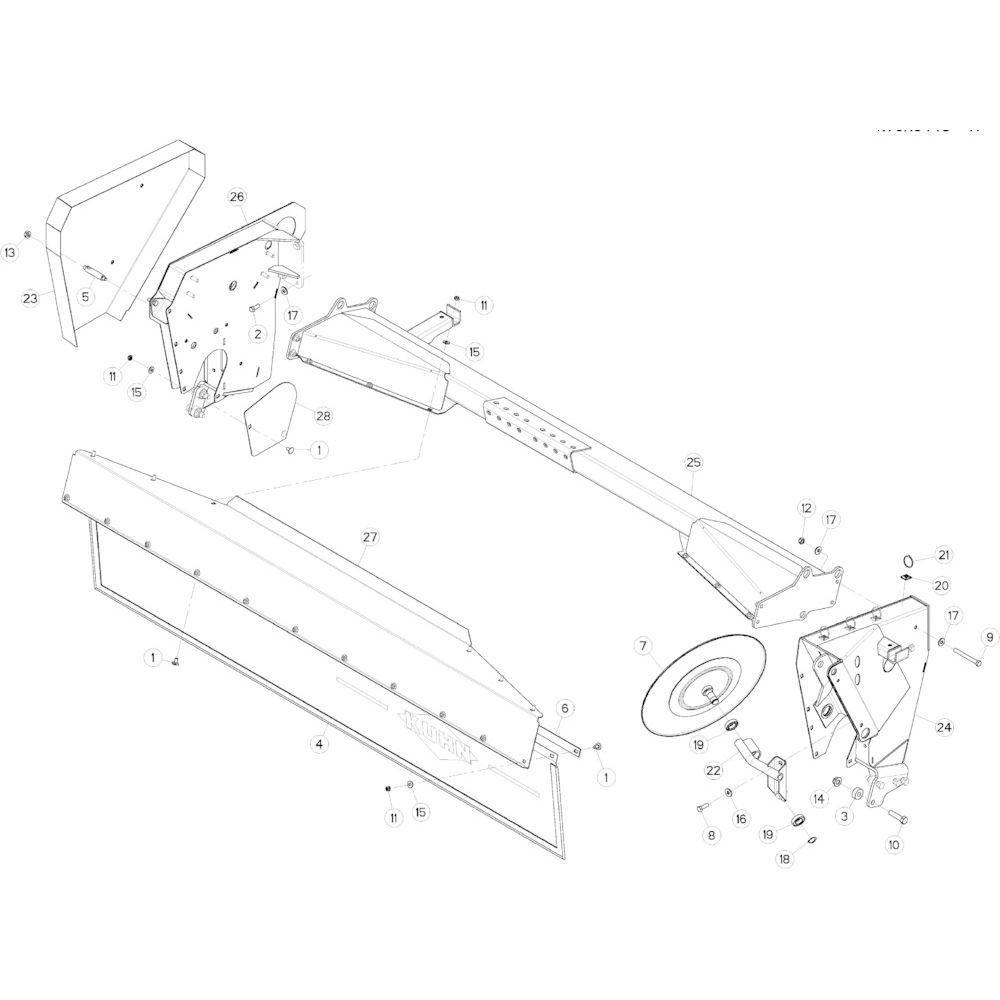 09 Steunbuis passend voor KUHN GMD283TG