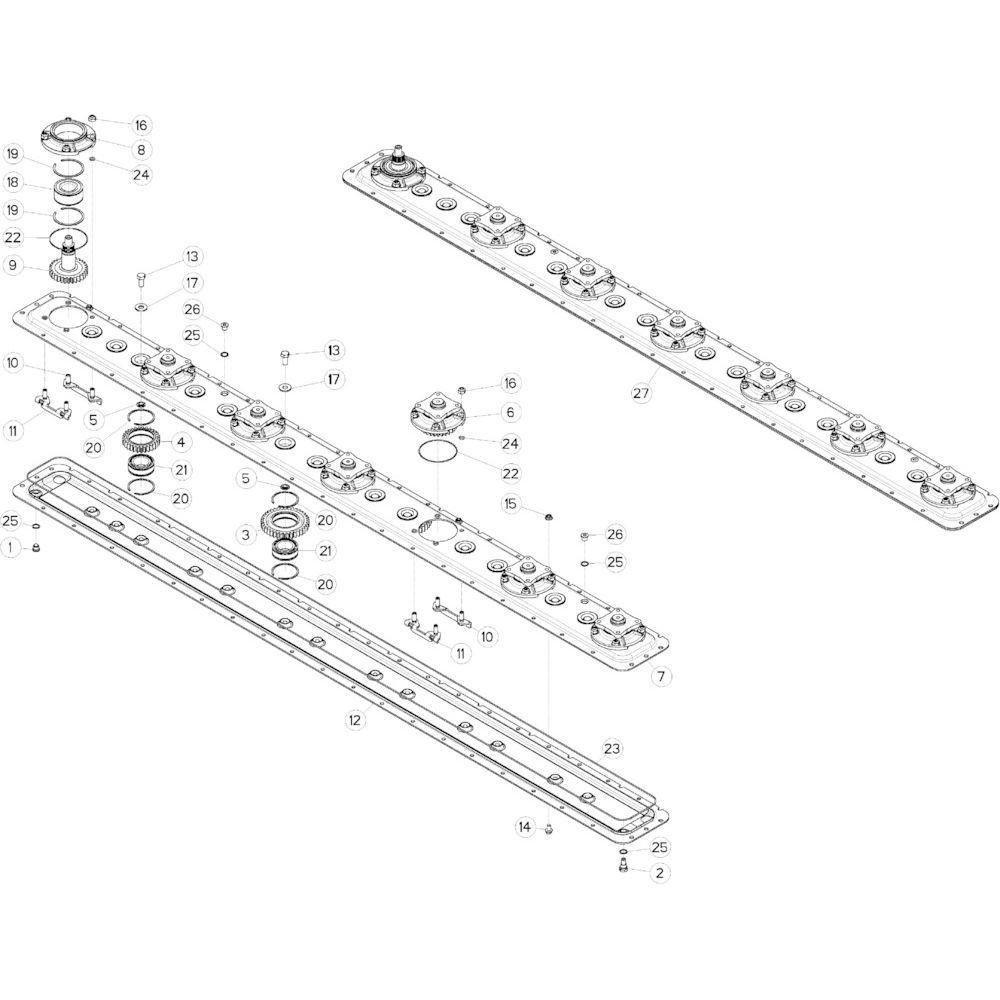 15 Maaibalk, tandwielkast passend voor KUHN GMD283TG