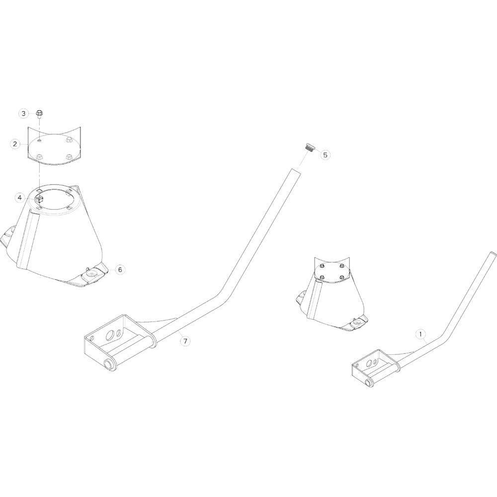 20 Schijven met grote kegel passend voor KUHN GMD283TG