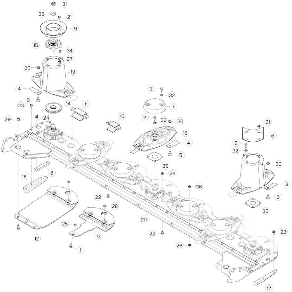 12 Schijf-schijfbescherming-glijplaatschoen passend voor KUHN GMD283TG