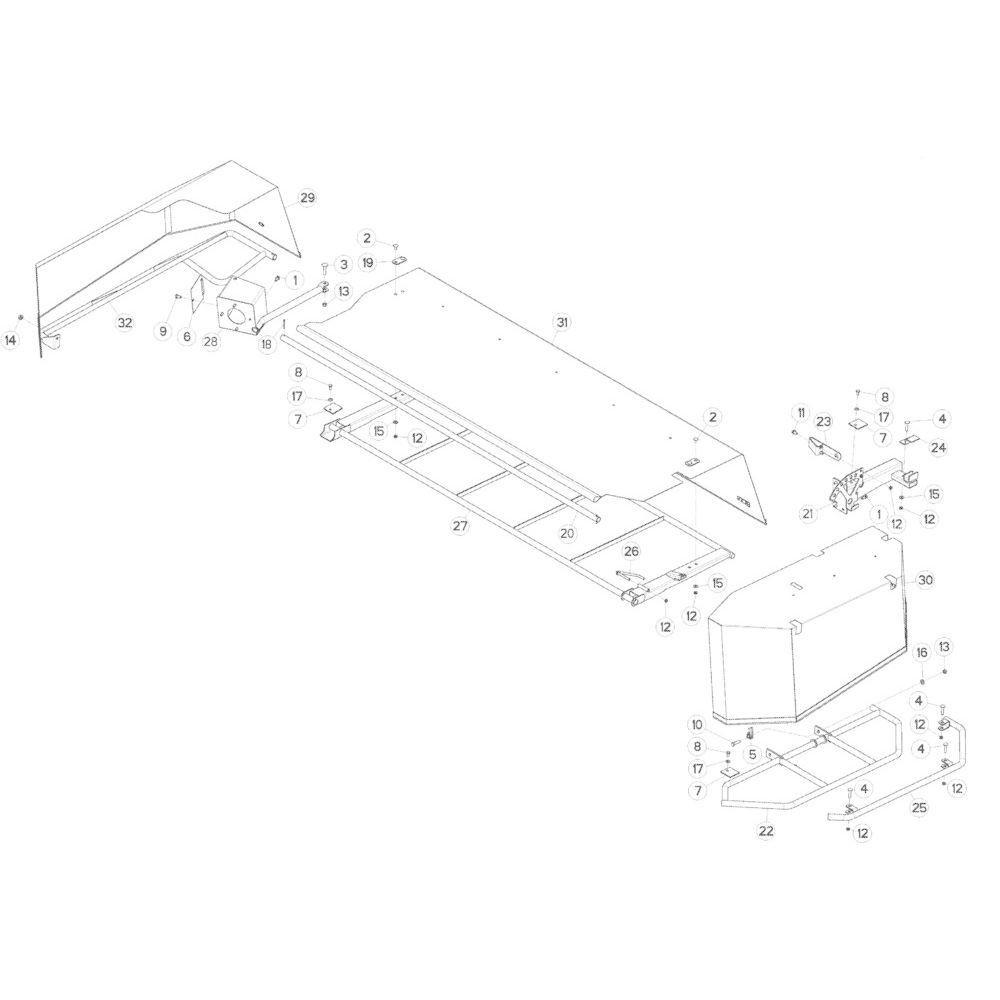 13 Schermbeugels passend voor KUHN GMD283TG