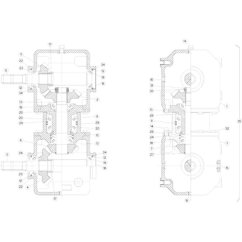 04 Gyrodine tandwielkast passend voor KUHN GMD283TGNA