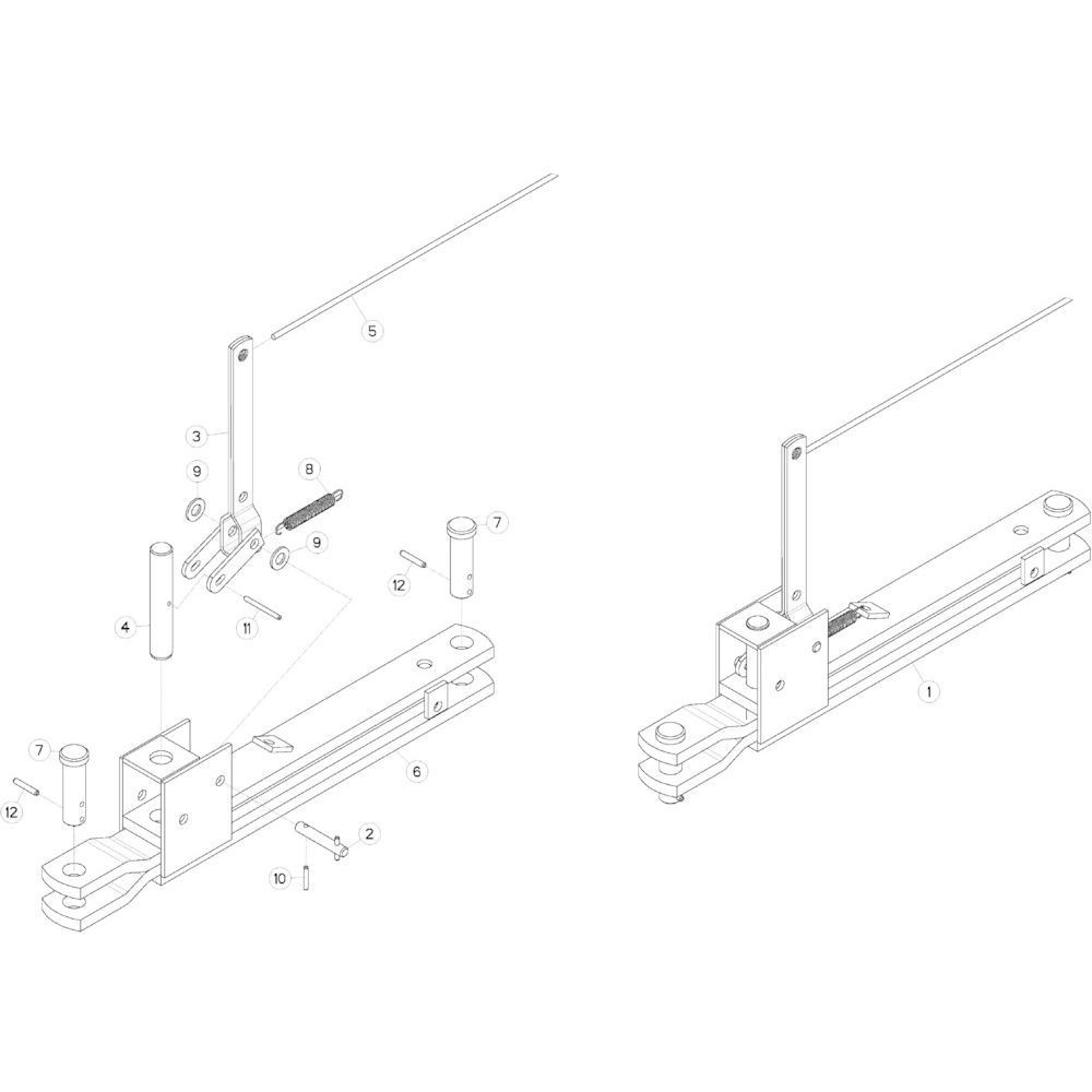 20 Mechanische vergrendelingsvoorziening passend voor KUHN GMD283TGNA