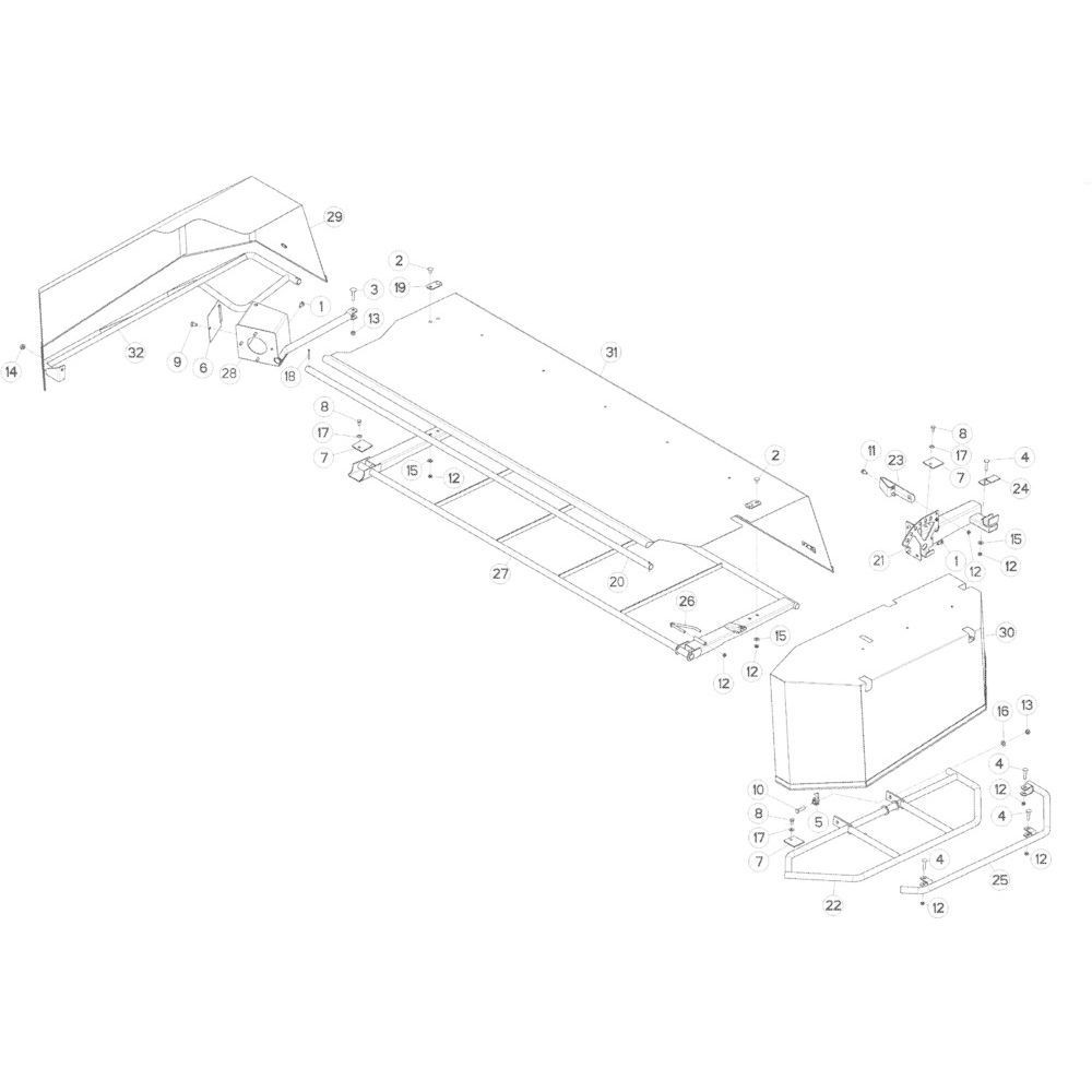 17 Schermbeugels passend voor KUHN GMD283TGNA