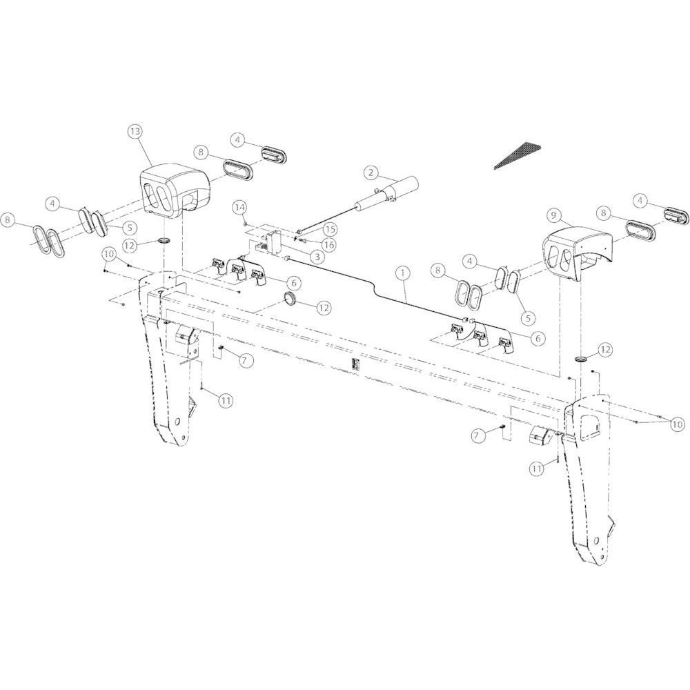 13 Verlichting passend voor KUHN GMD2850TL