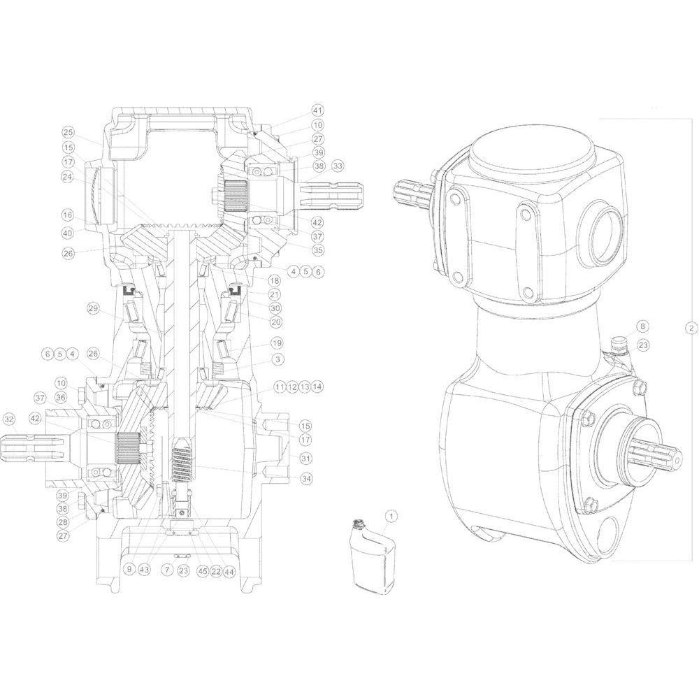 05 Tandwielkast 1000 omw/min passend voor Kuhn GMD2850TL