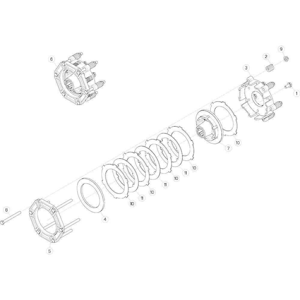 03 Frictiekoppeling passend voor KUHN GMD313TG
