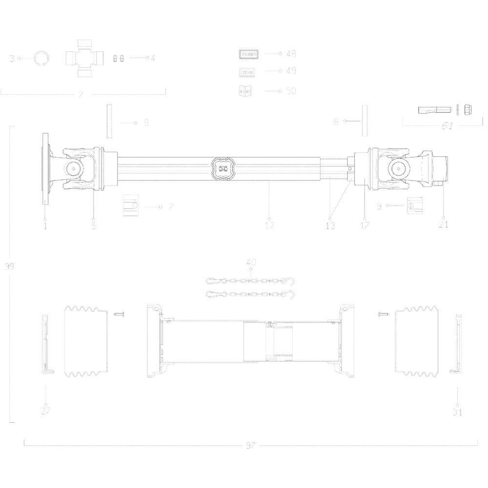 30 Transmissie 2 passend voor KUHN GMD313TG