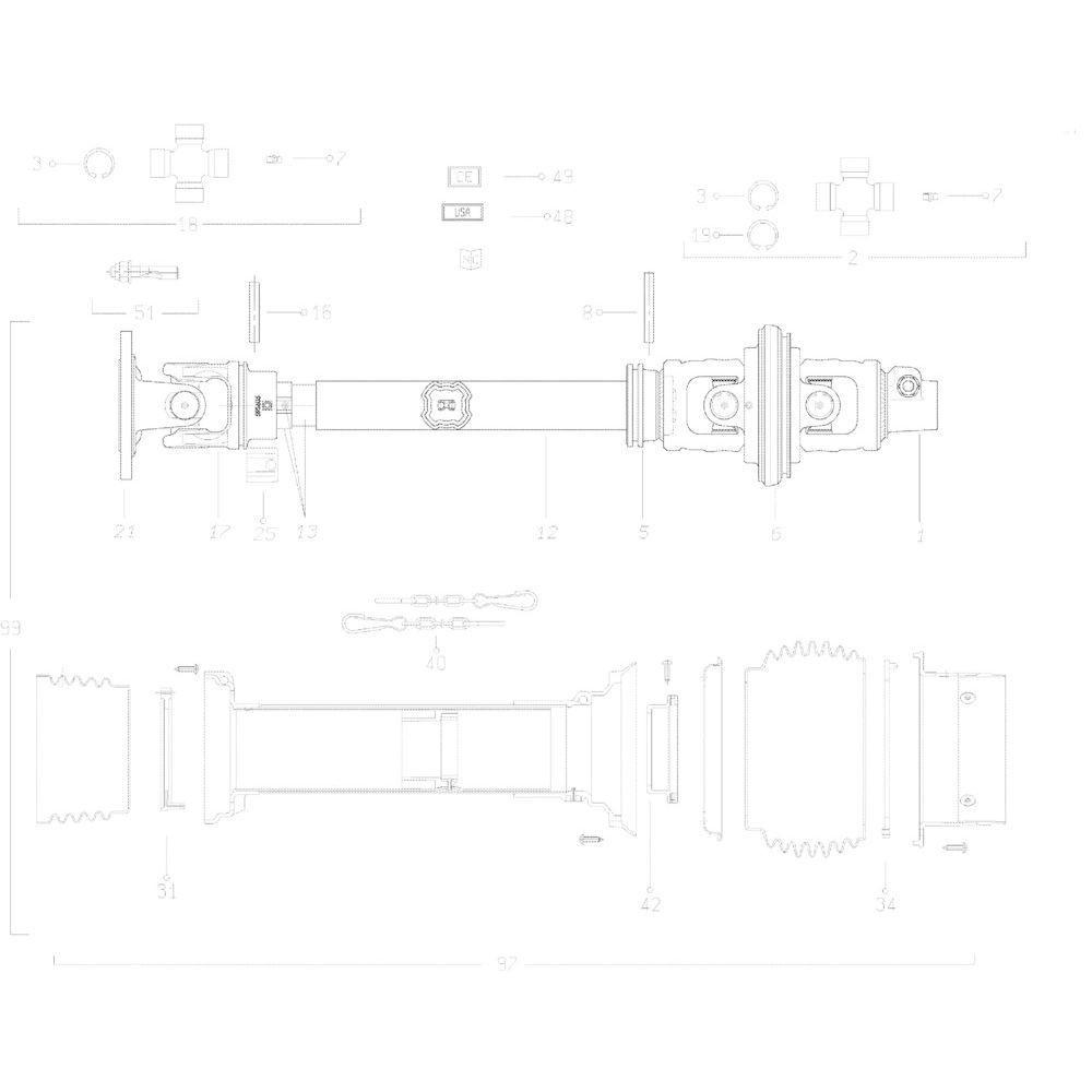 31 Transmissie 3 passend voor KUHN GMD313TG