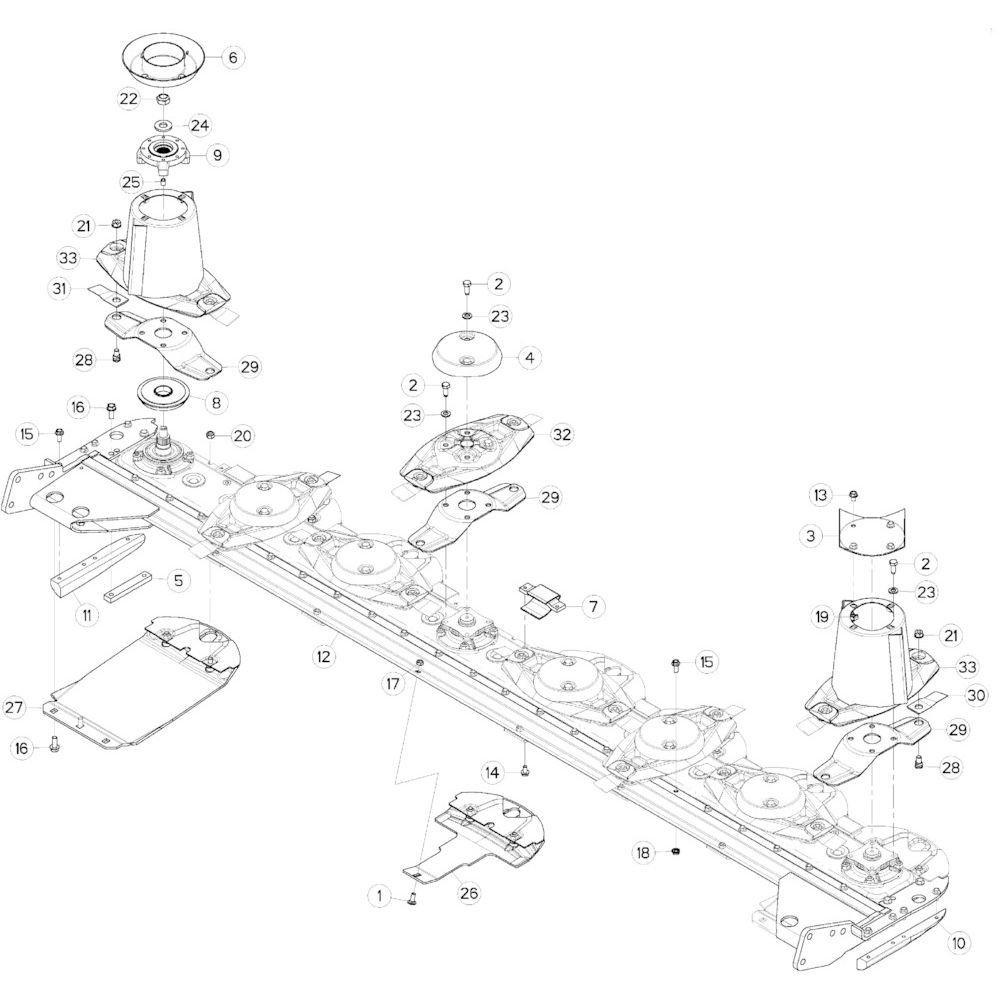 14 Schijven, beschermingen, glijplaten 1 passend voor KUHN GMD313TG