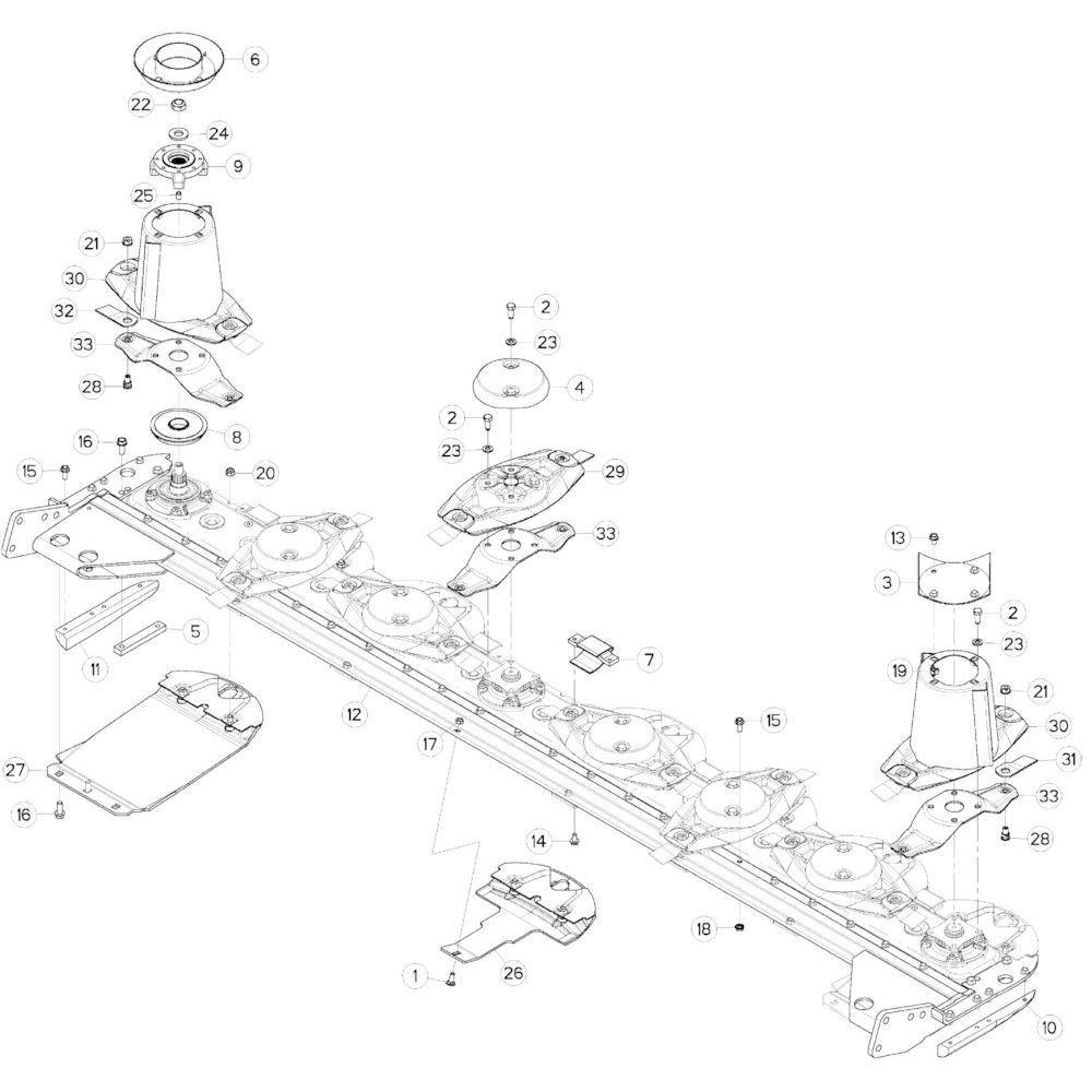 15 Schijven, beschermingen, glijplaten 2 passend voor KUHN GMD313TG