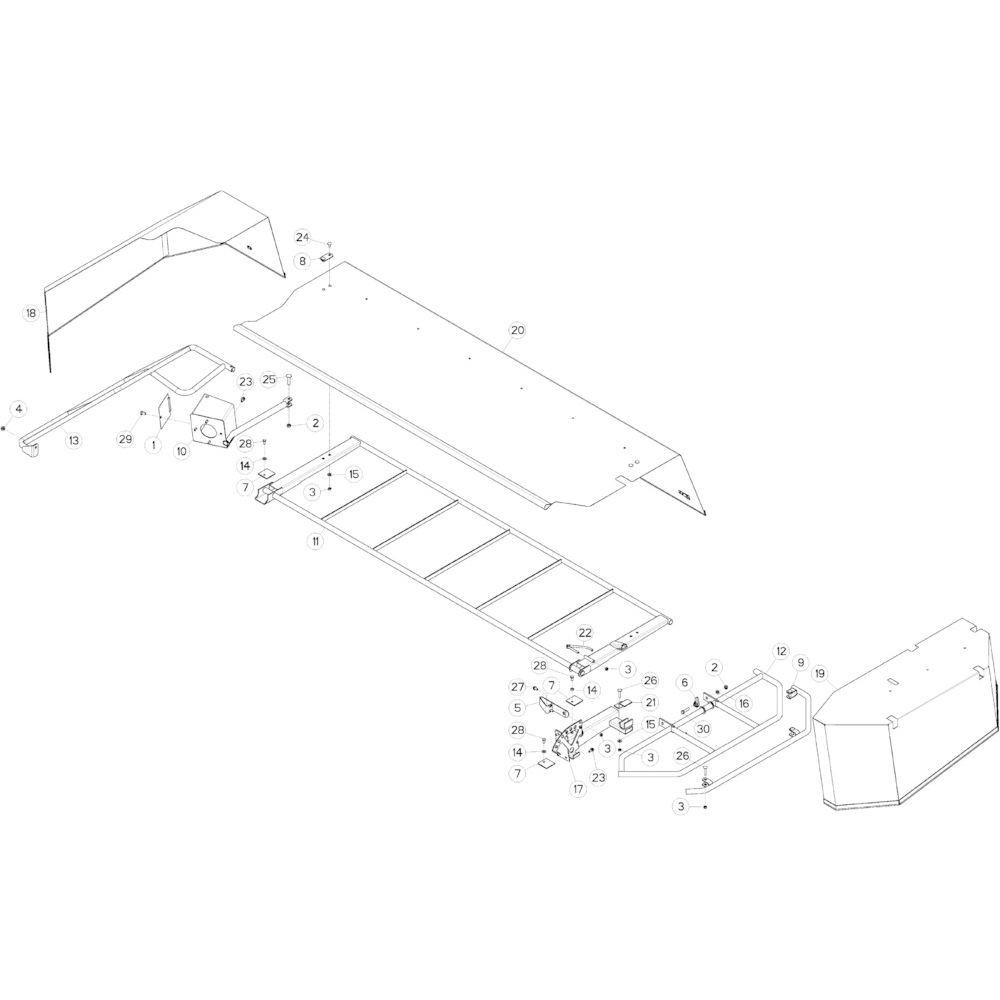 16 Schermbeugels passend voor KUHN GMD313TG