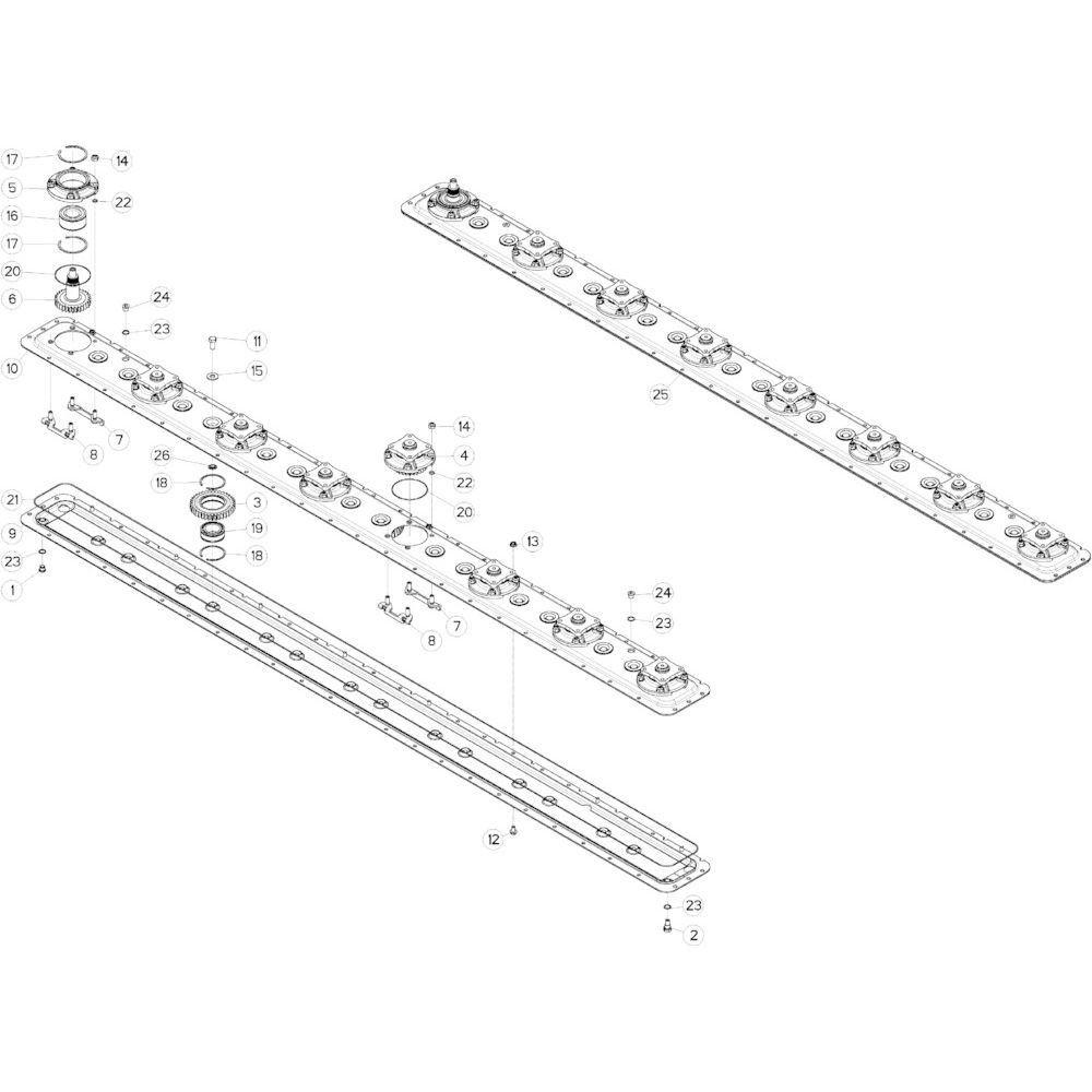 11 Maaibalk tandwielkast rechts passend voor KUHN GMD313TGNA
