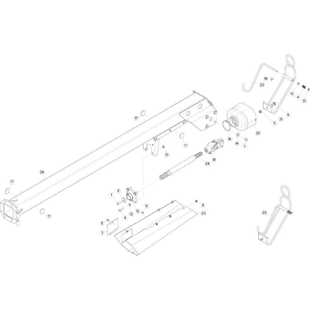 19 Mechanische vergrendelingsvoorziening passend voor KUHN GMD313TGNA