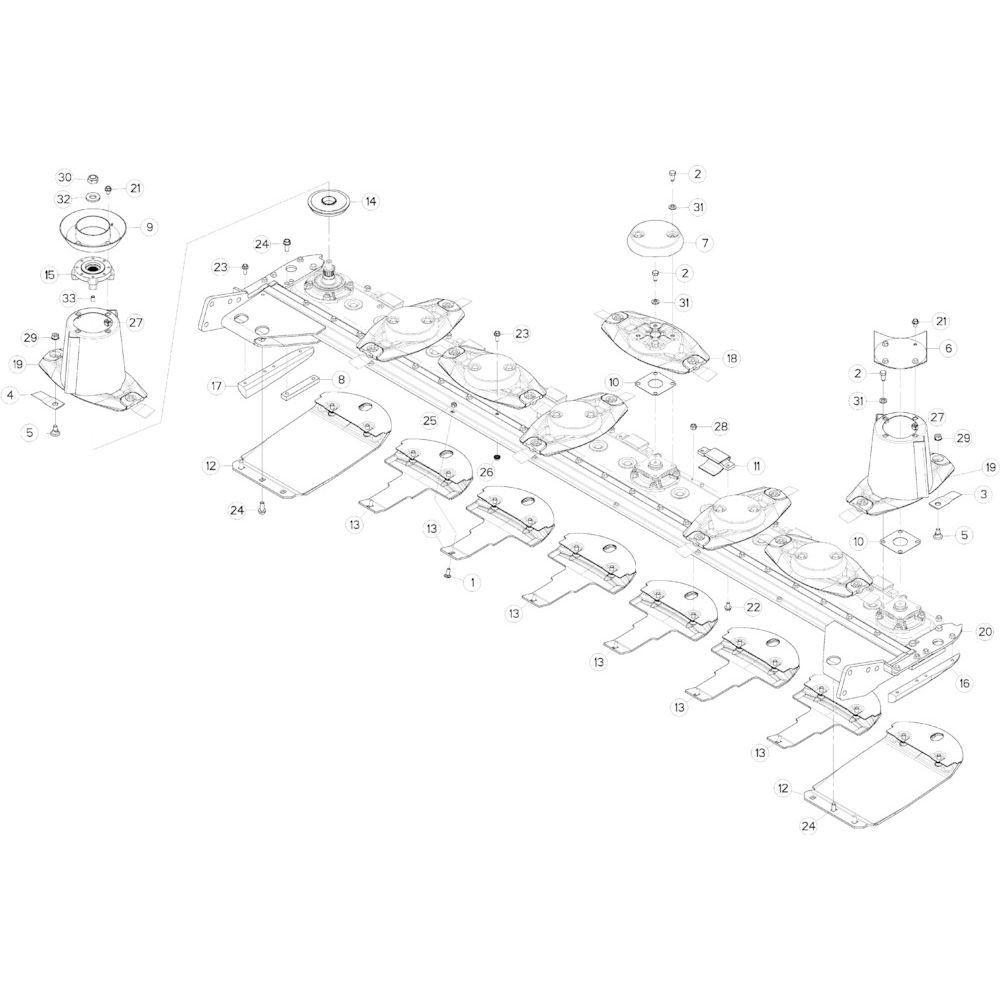 18 Schijven, beschermingen en glijplaten 2 passend voor KUHN GMD313TGNA