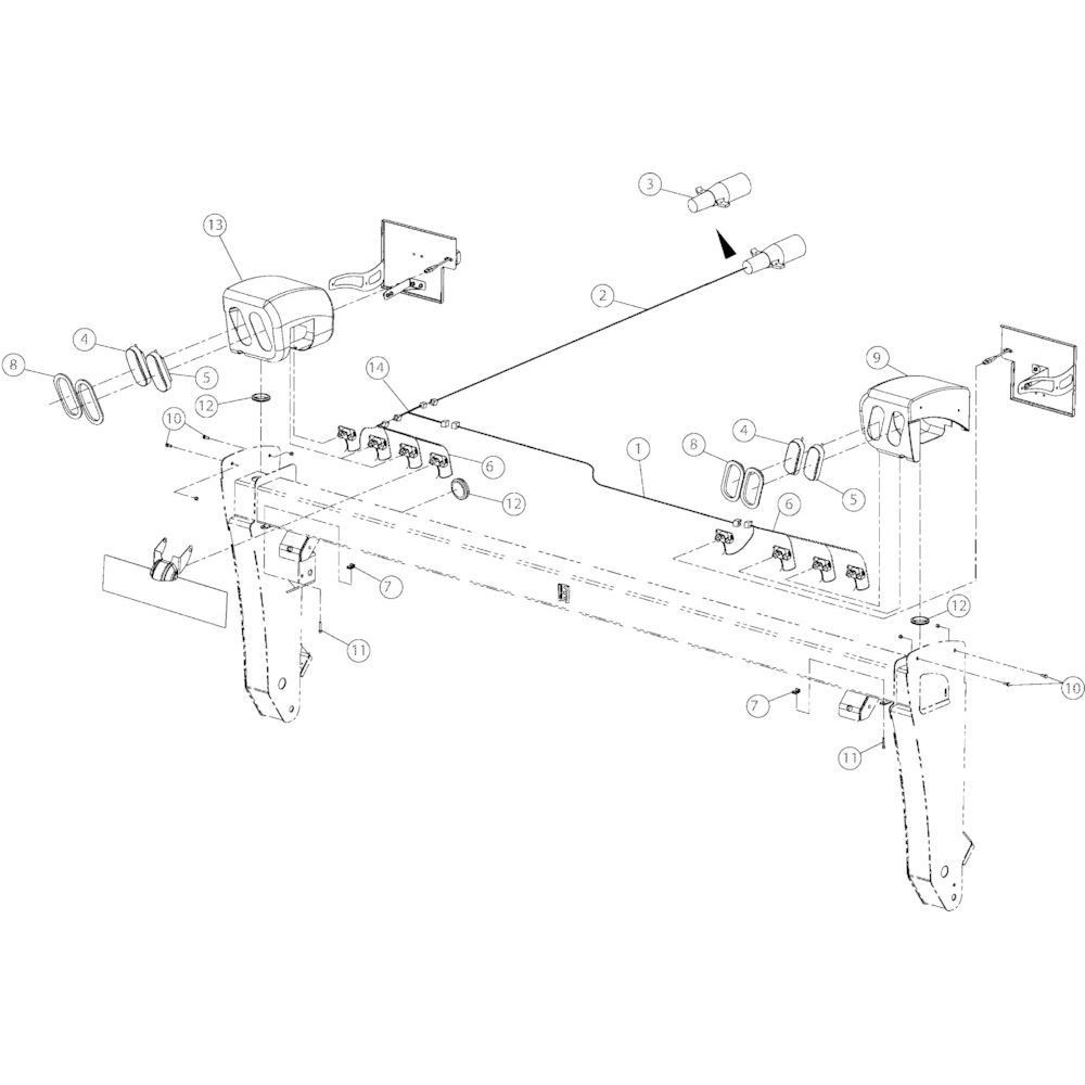 13 Verlichting passend voor KUHN GMD3150TL
