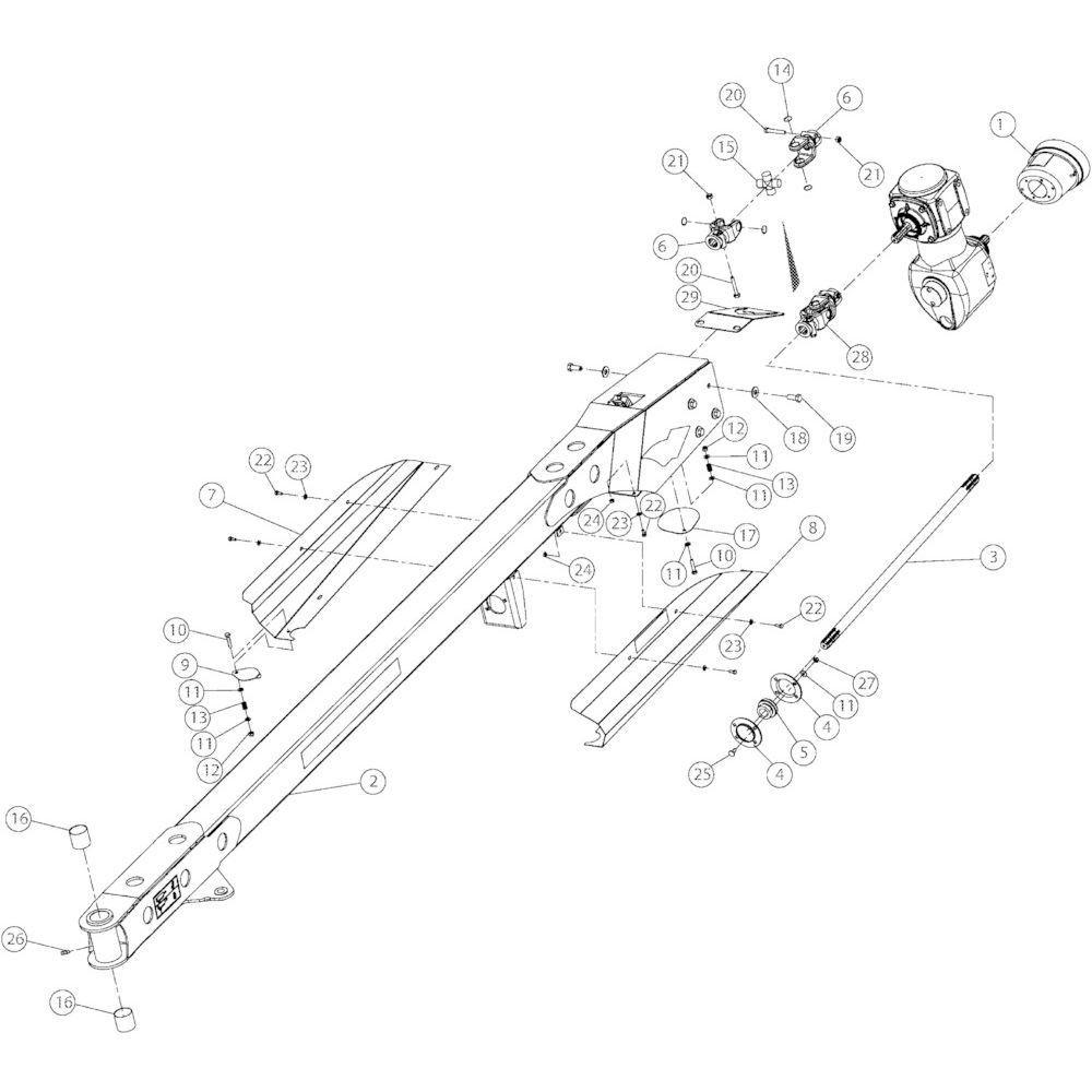 03 Voorkant, onderdelen passend voor Kuhn GMD3150TL
