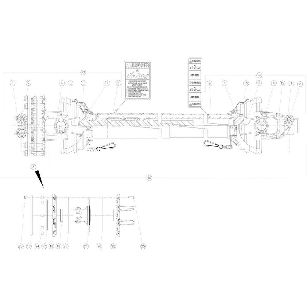 18 Secundaire aftakas passend voor KUHN GMD3150TL