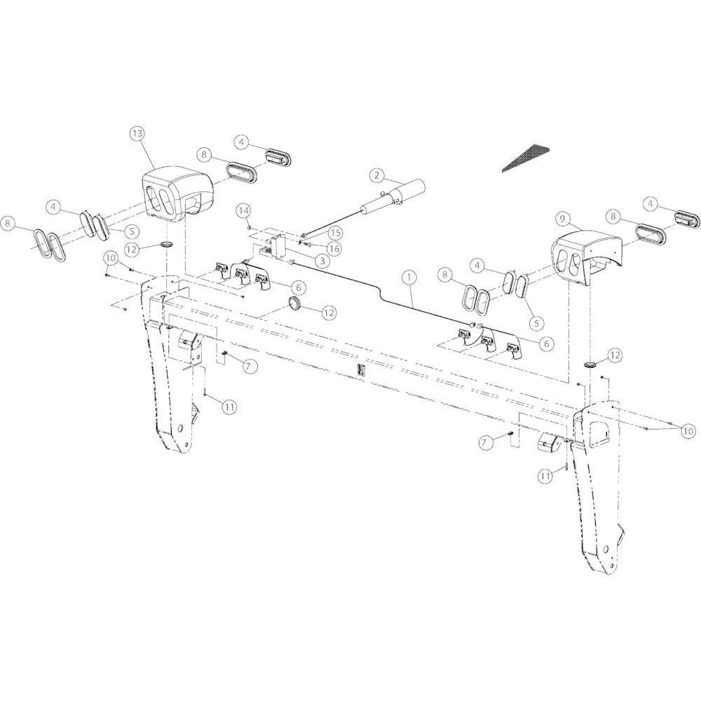 13 Aanduiding passend voor KUHN GMD3150TL