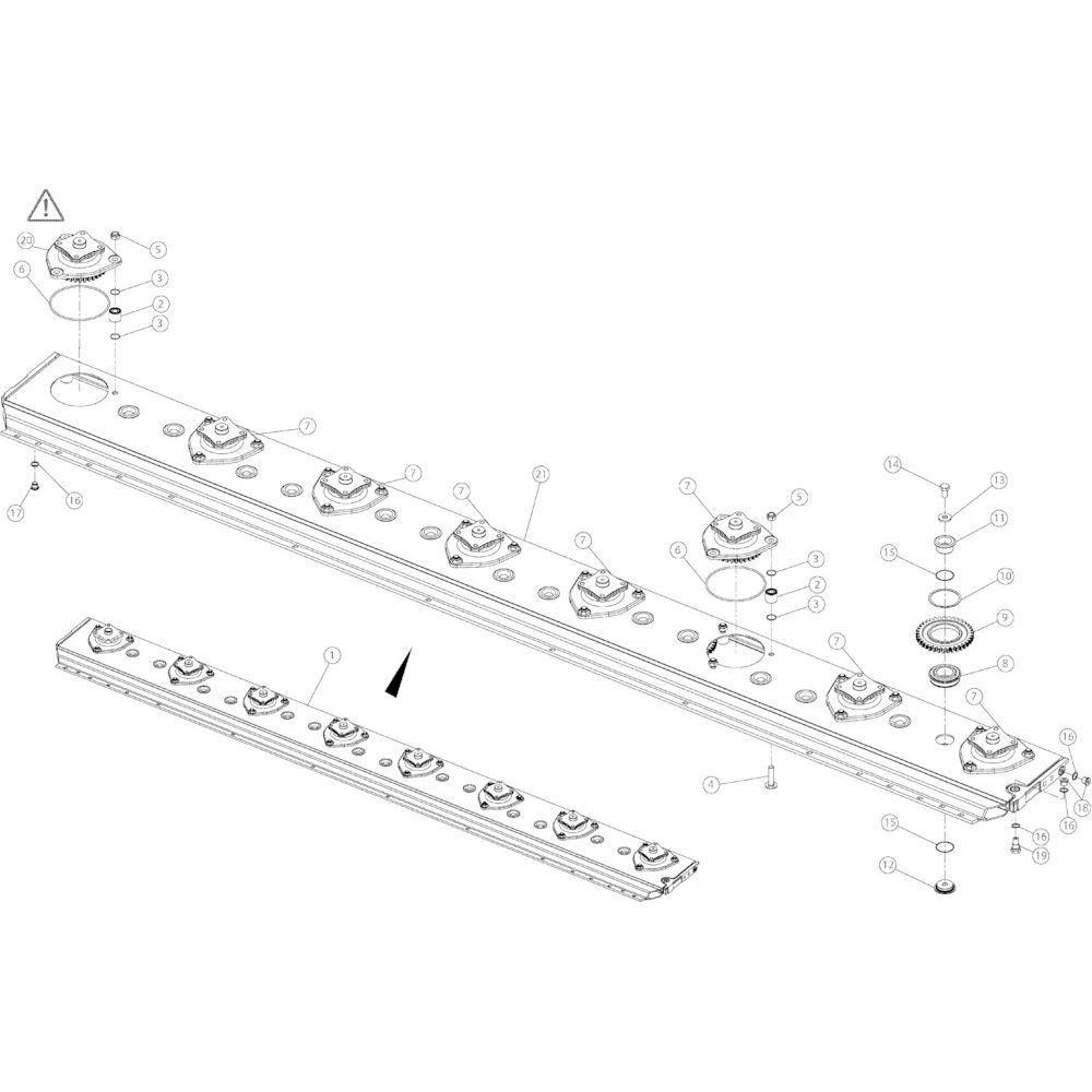 09 Maaibalk 3550 passend voor KUHN GMD3550TL