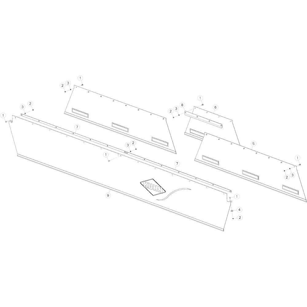 13 Verlichting passend voor KUHN GMD3550TL