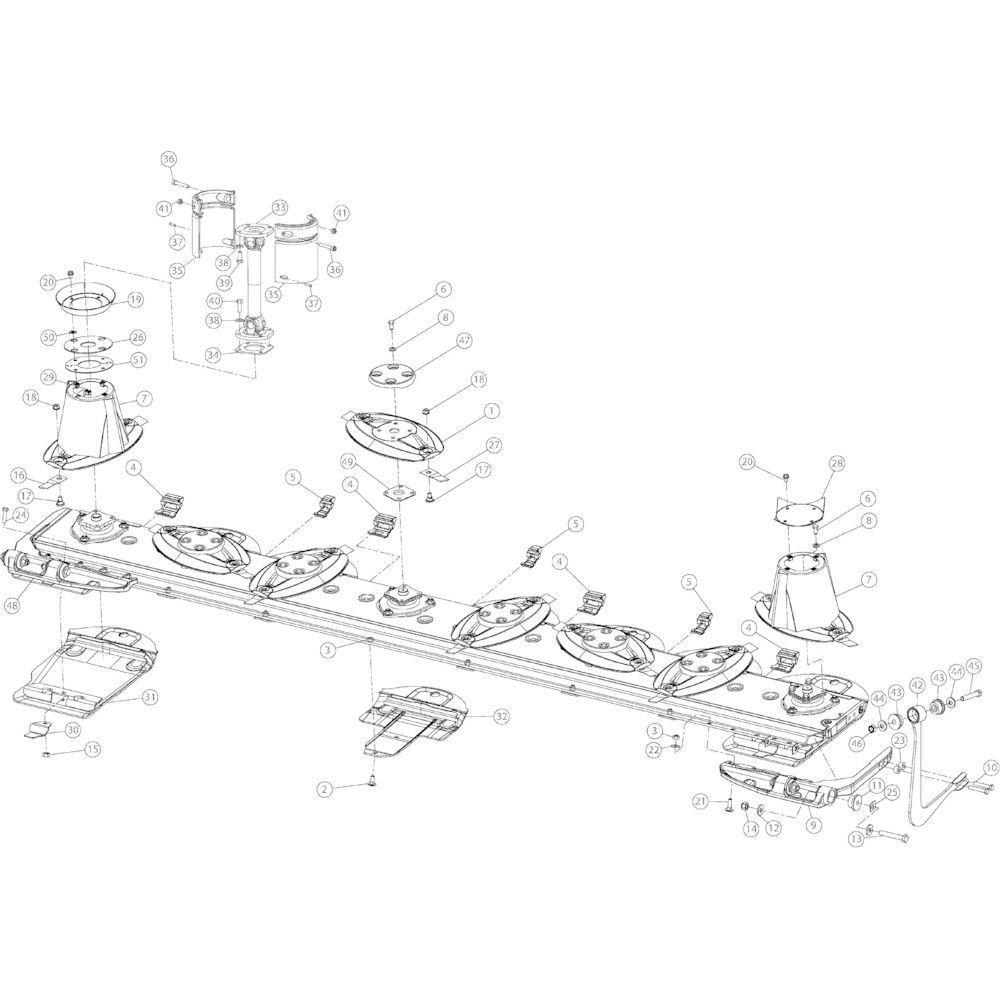 08 Schijven 3550 passend voor KUHN GMD3550TL