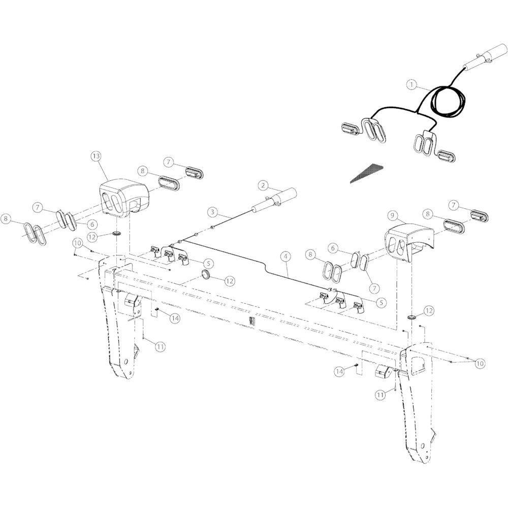 12 Verlichting passend voor KUHN GMD4050TL