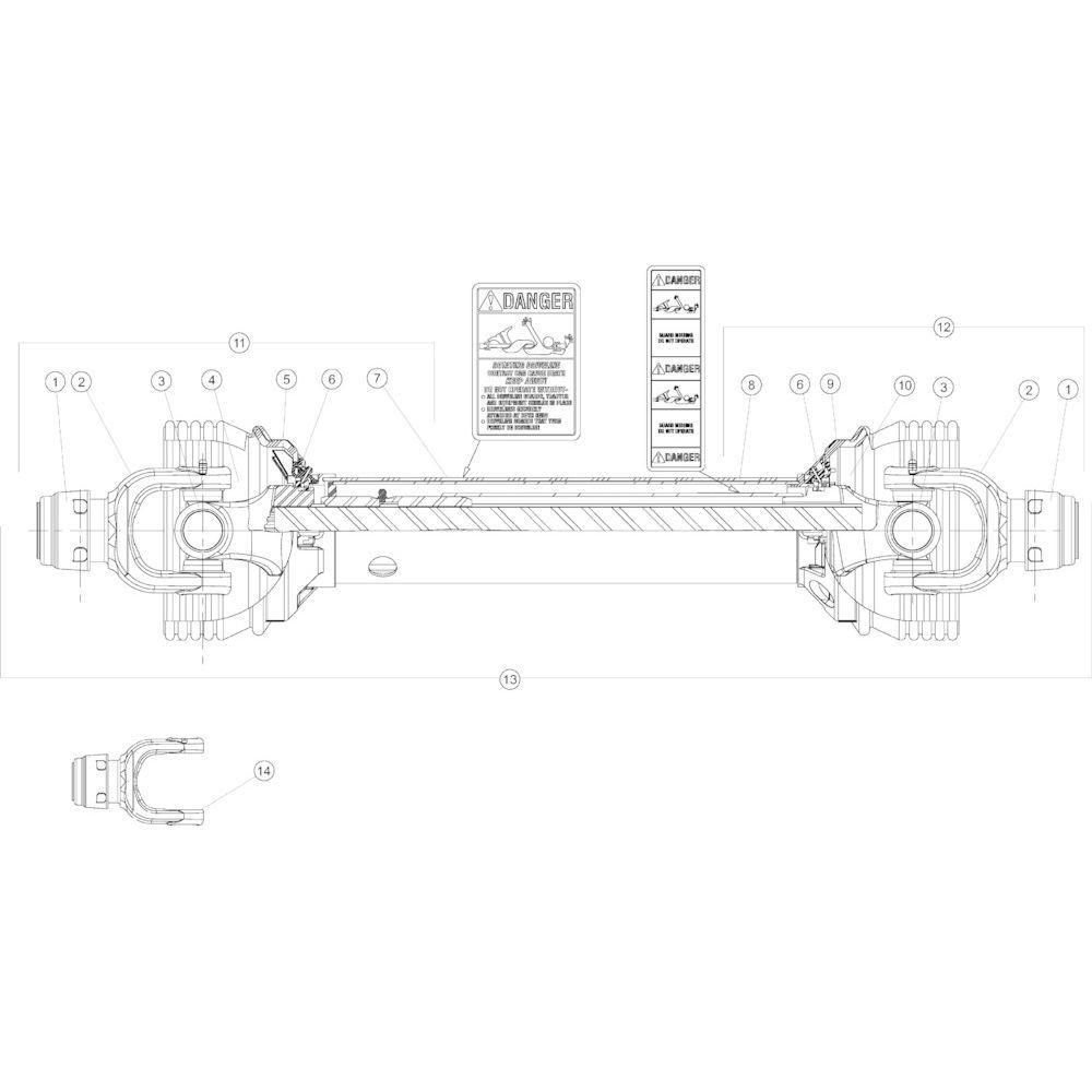 16 Aftakas primair passend voor KUHN GMD4050TL