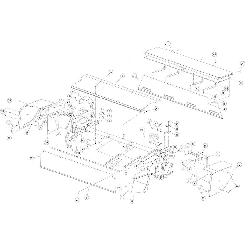 11 Schermbeugels passend voor KUHN GMD4050TL