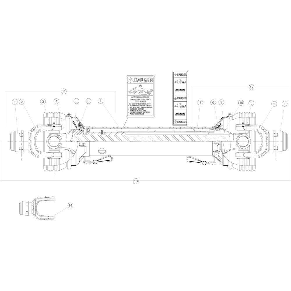 17 Aftakas passend voor KUHN GMD4050TL