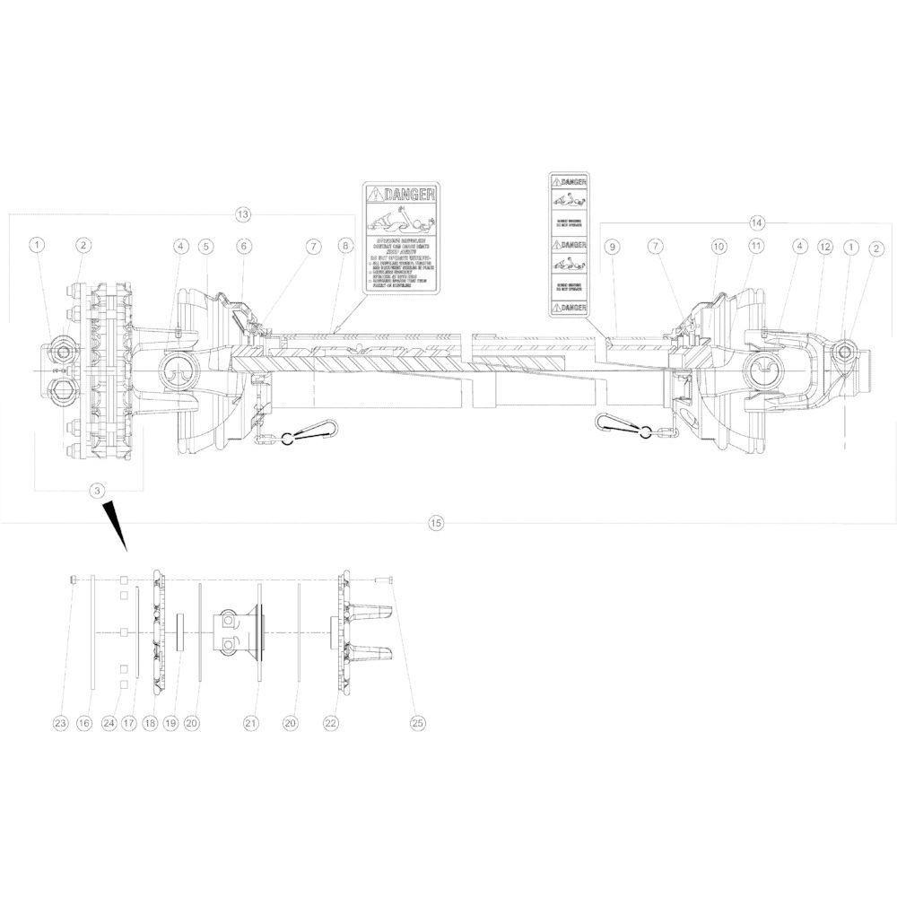 18 Secundaire aftakas passend voor KUHN GMD4050TL