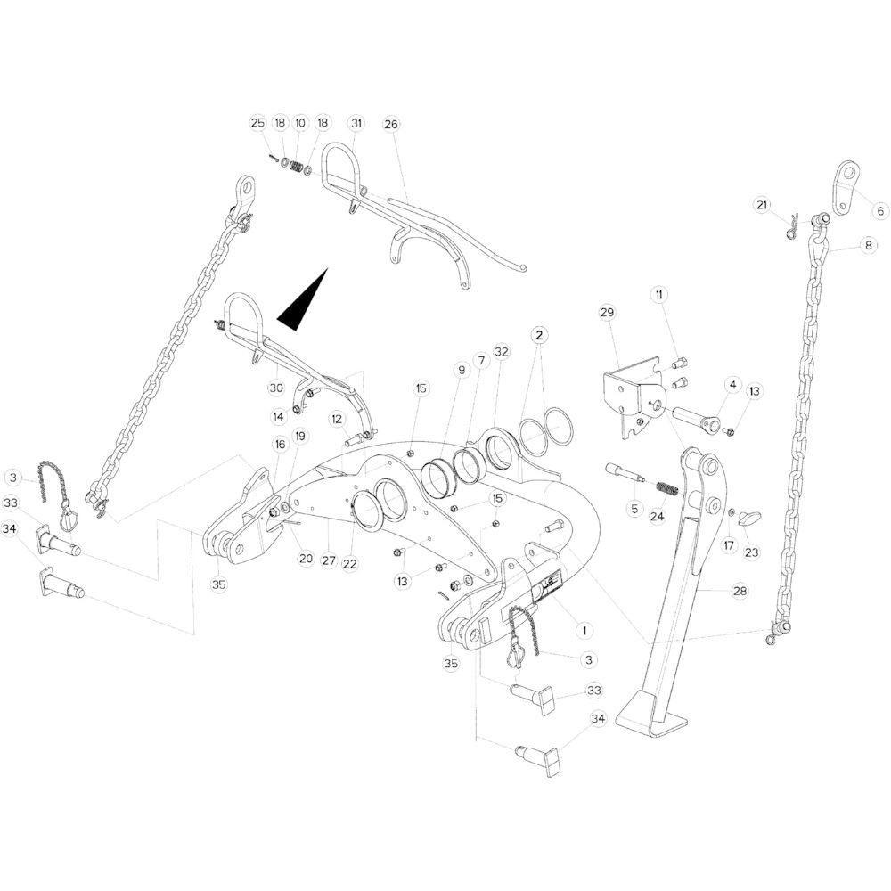 01 Zwenkkop passend voor KUHN GMD4050TL