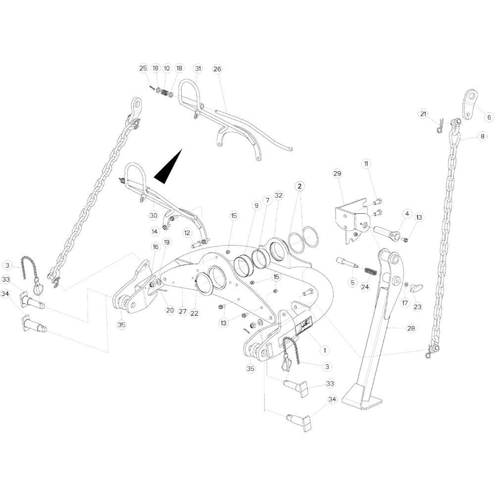 01 Gyrodine zwenkkop passend voor KUHN GMD4050TL