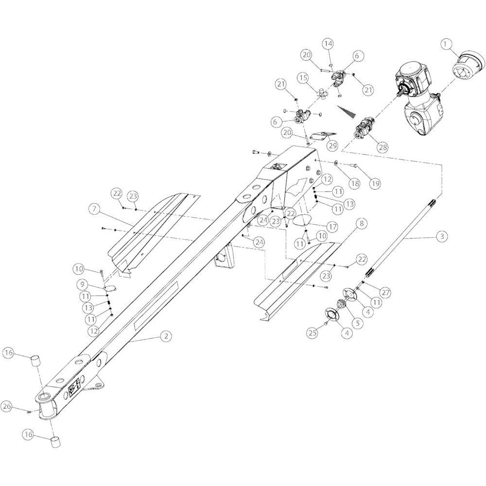 03 Voorkant, onderdelen passend voor Kuhn GMD4050TL