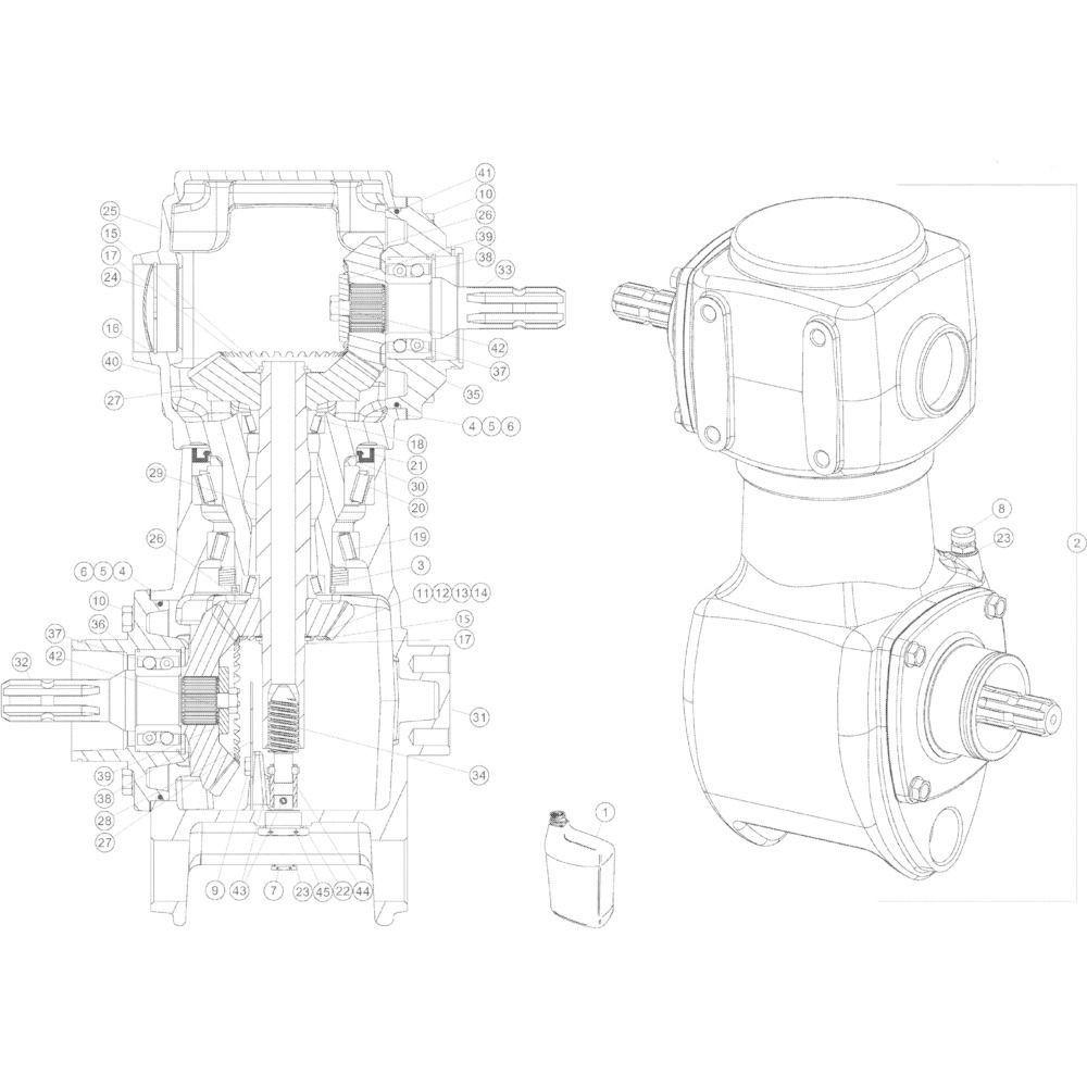 04 Tandwielkast 540 omw/min passend voor Kuhn GMD4050TLCE