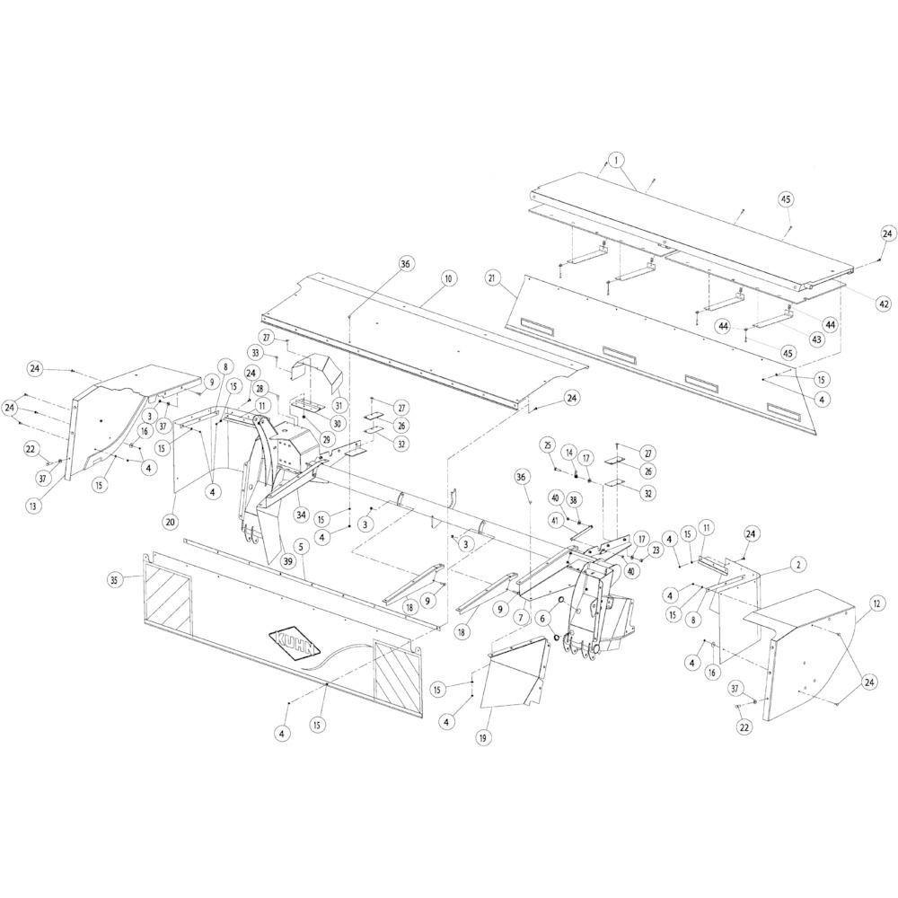 11 Beschermingen 4050 passend voor KUHN GMD4050TLCE