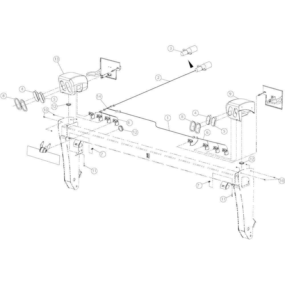 13 Verlichting passend voor KUHN GMD4050TLCE