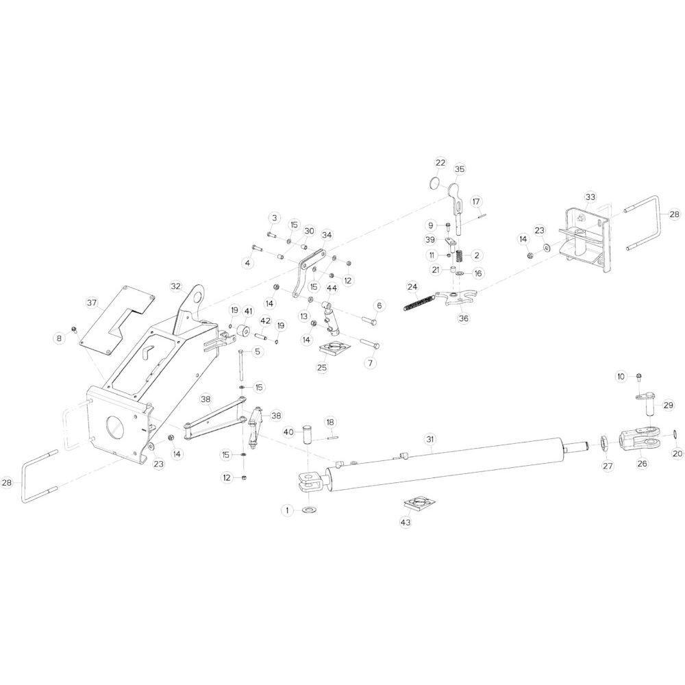 06 Transportvergrendeling, mechanisch passend voor KUHN GMD5251TCNA