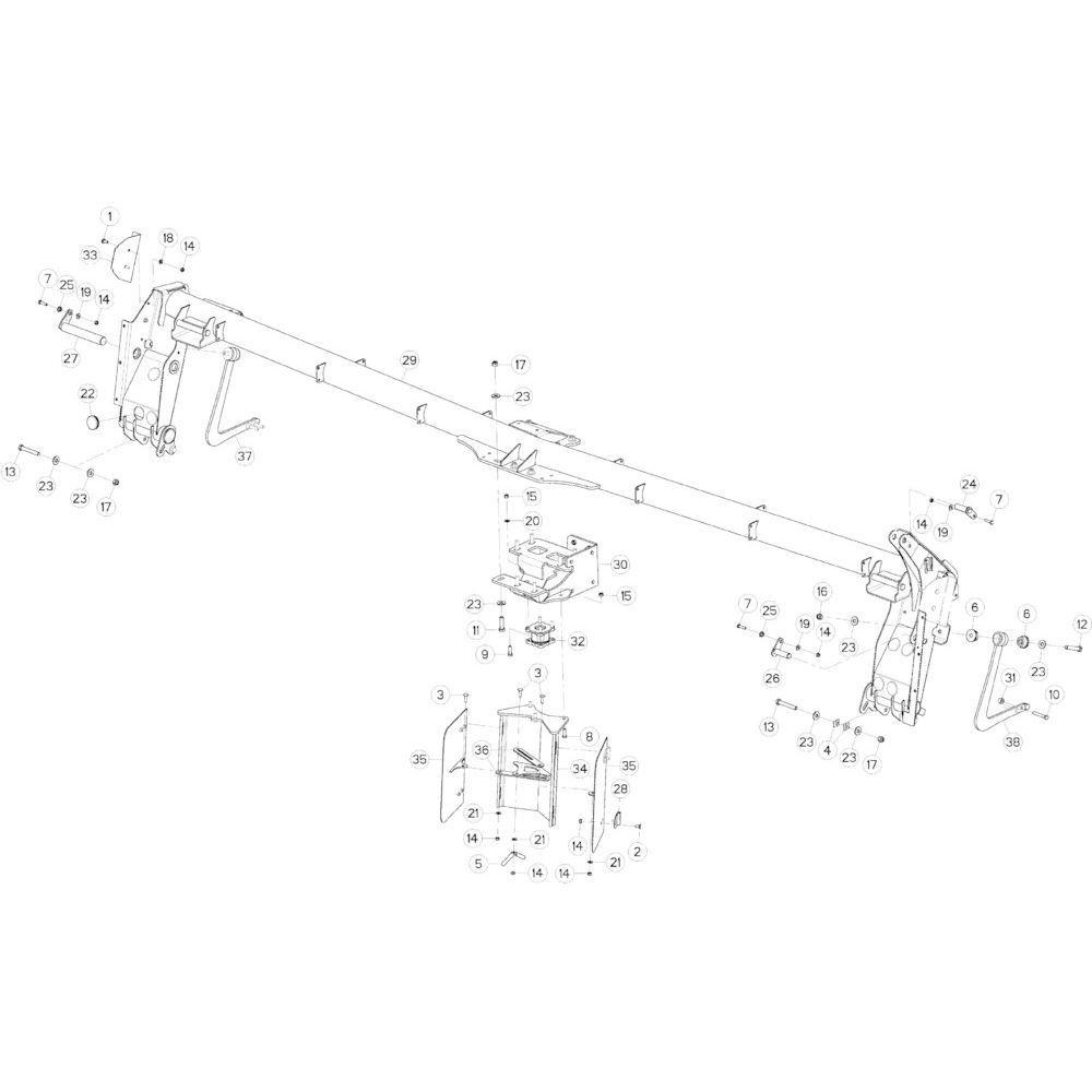 09 Steunbuis passend voor KUHN GMD5251TCNA