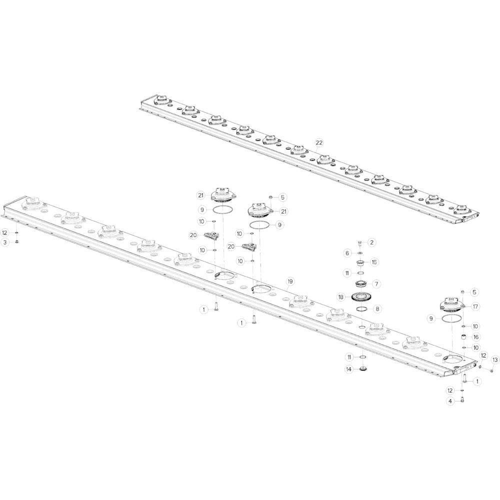 11 Maaibalk passend voor KUHN GMD5251TCNA
