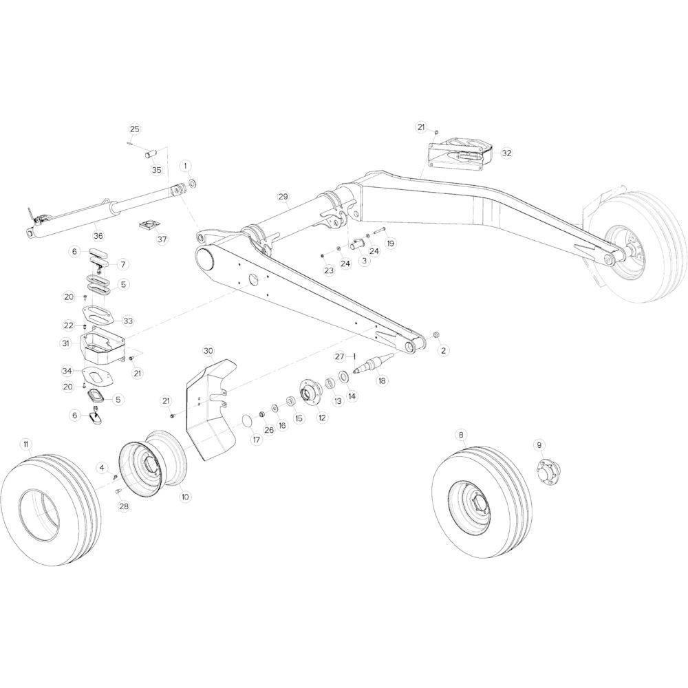 15 Transportwiel passend voor KUHN GMD5251TCNA