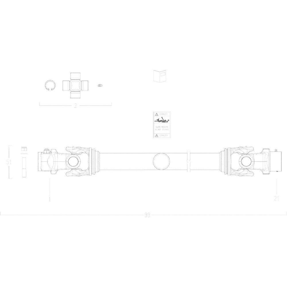 25 Transmissie 1 passend voor KUHN GMD5251TCNA