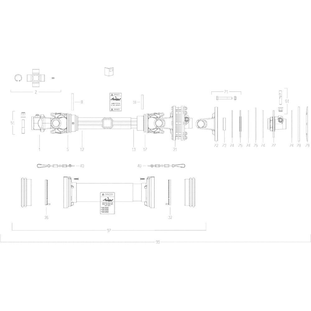26 Transmissie 2 passend voor KUHN GMD5251TCNA