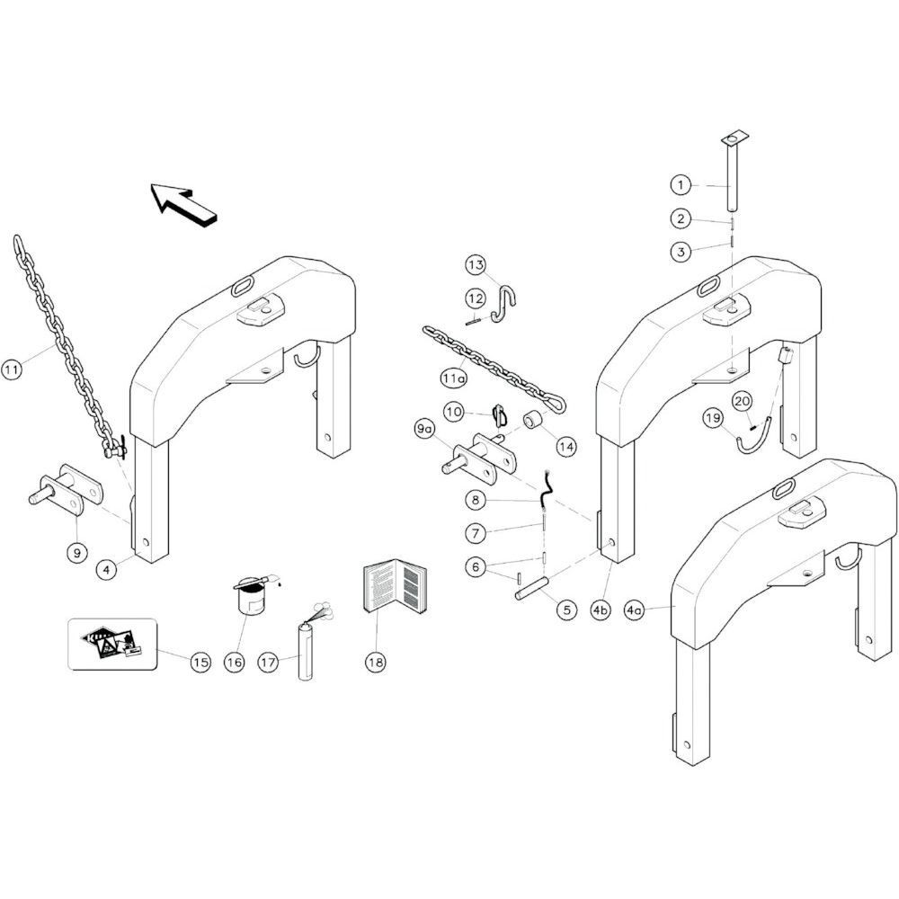 01 3-puntsframe passend voor KUHN GF10601TO