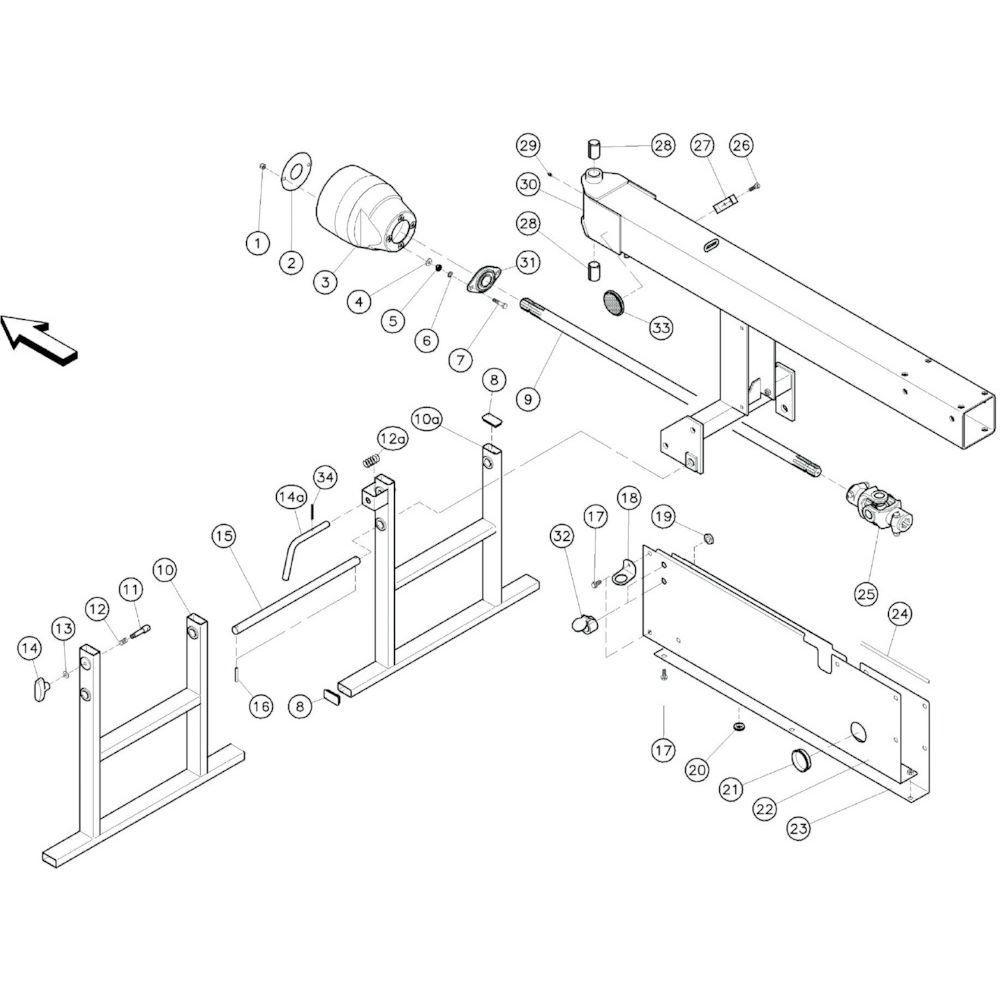 02 Verbindingsframe passend voor KUHN GF10601TO