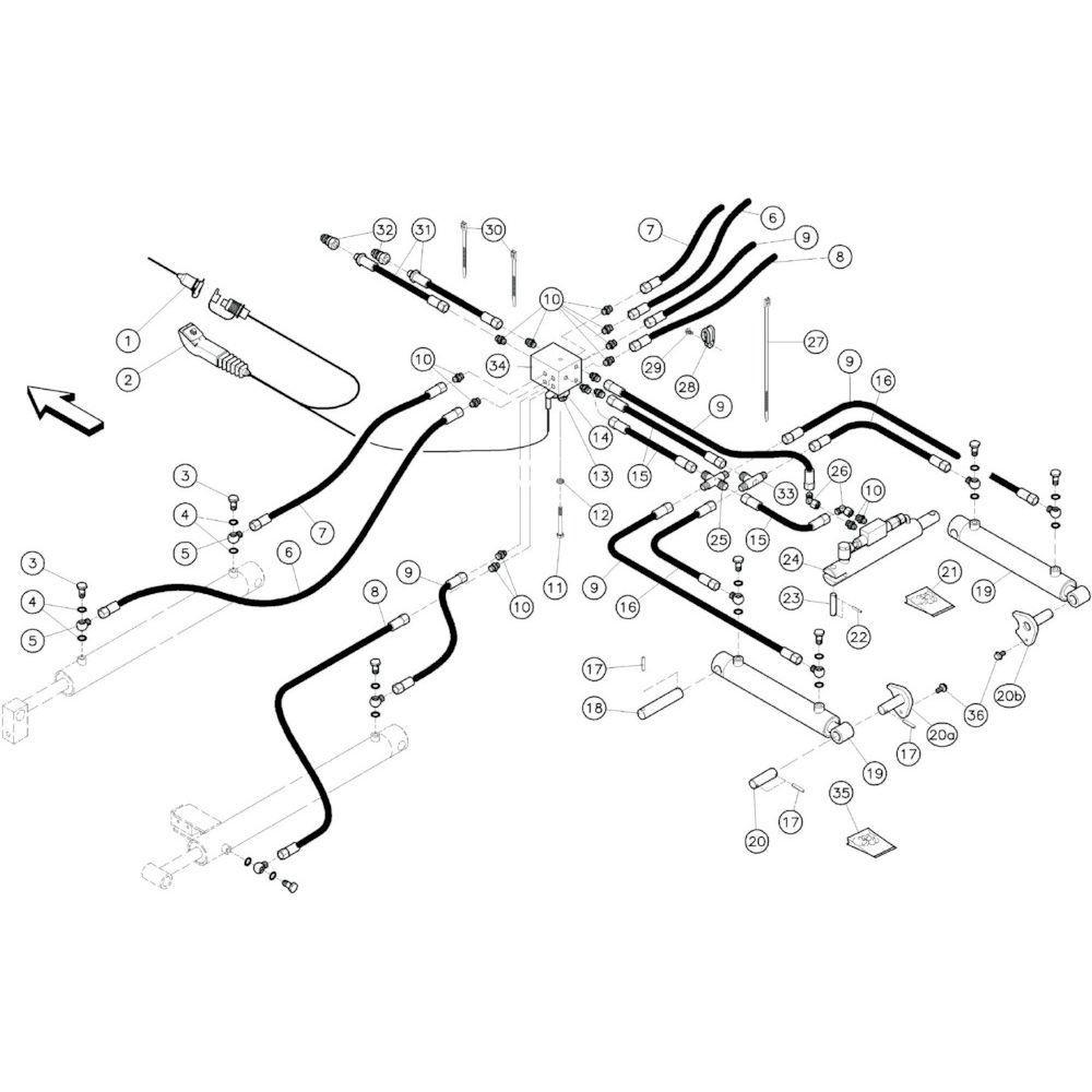 06 Hydrauliekslangen passend voor KUHN GF10601TO